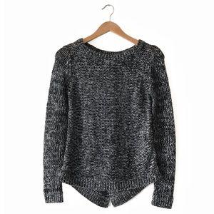 RW&Co Wool Blend Sweater S Marled Grey
